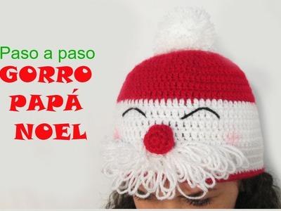 ???? Tutorial gorro papá Noel a crochet
