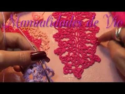 Tutorial Orilla #4 Encaje Crochet Paso a paso