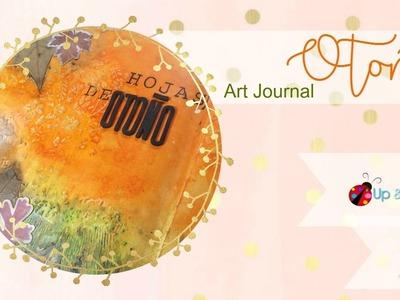 Tutorial para hacer Página Art Journal de Otoño