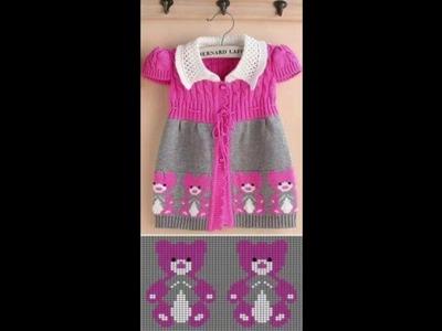 Vestido tejido a crochet o ganchillo diseño