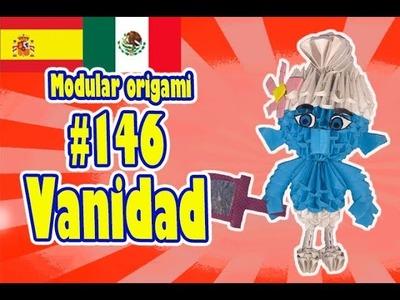 3D MODULAR ORIGAMI #146 Vanidad Pitufo