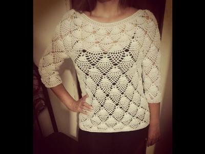 Blusa de Bellotas COMPLETO (Crocheteando con la Comadre)