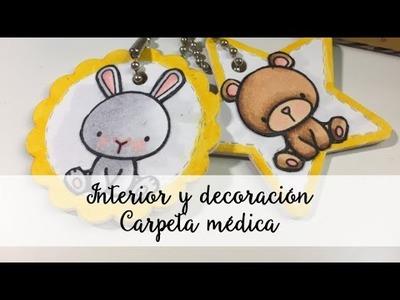 Carpeta álbum médico Parte 2 - Tutorial scrap - Mini album - Midori