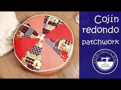 Cojín redondo de patchwork, nivel principiante