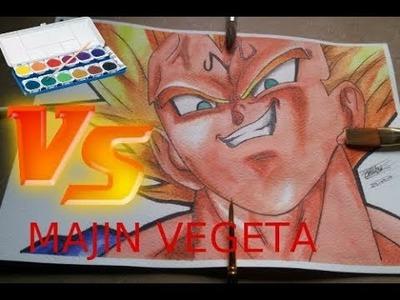 Como Dibujar a Majin Vegeta Ssj. Dragon Ball z. speed drawing