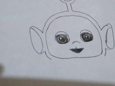 Como dibujar a po de los teletubies.how to draw po of teletubies