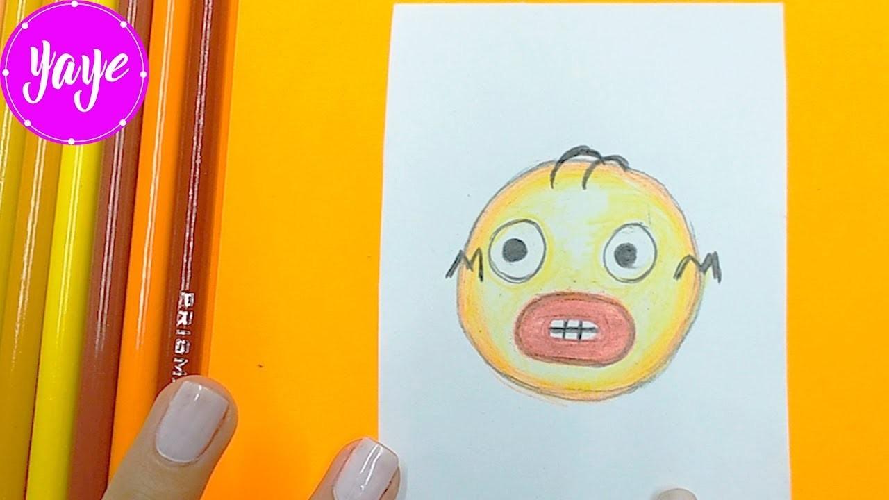 Como dibujar emoji de Homero paso a paso.how to draw Homer for kids.Yaye