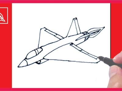 Cómo Dibujar Un Avión De Guerra - How To Draw a Fighting Jet   Dibujando