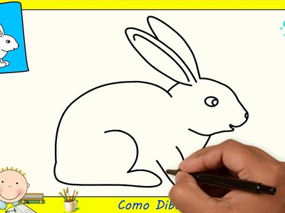 Como dibujar un conejo FACIL paso a paso para niños y principiantes 1