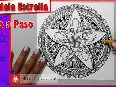 Como dibujar un Mandala paso a paso #15 Zendala