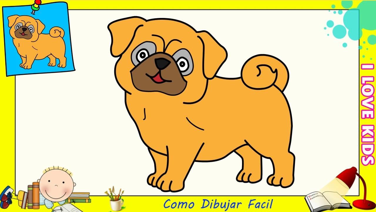 Como Dibujar FÁcil MÉtodo Para Principiantes Y Como: Como Dibujar Un Perro FACIL Paso A Paso Para Niños Y