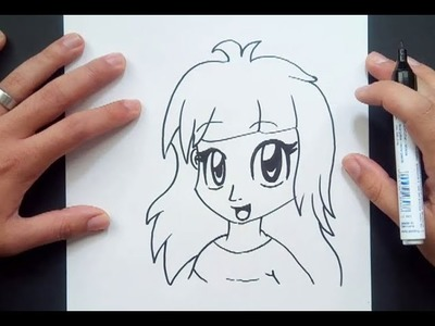 Como dibujar una chica anime paso a paso | How to draw an anime girl