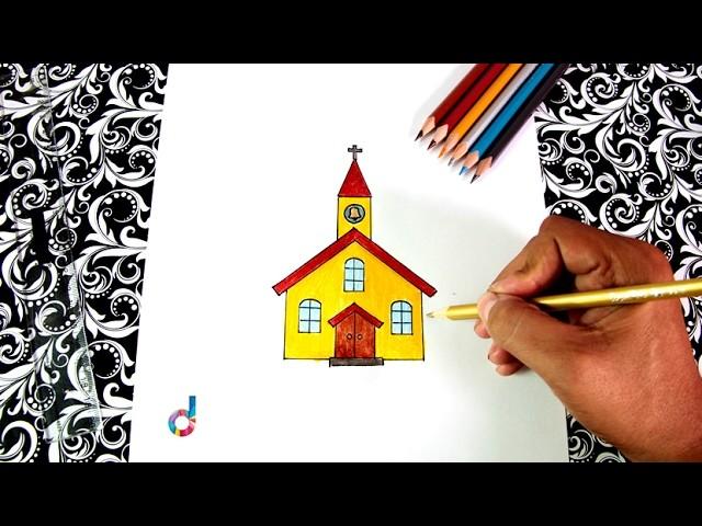 Cómo dibujar una Iglesia | How to Draw a Church