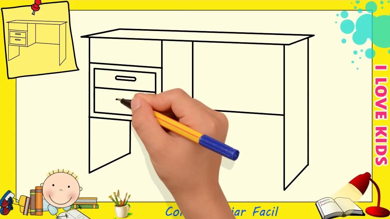 Como Dibujar FÁcil MÉtodo Para Principiantes Y Como: Como Dibujar Una Mesa FACIL Paso A Paso Para Niños Y