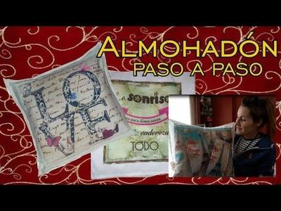 COMO HACER FUNDAS DE COJIN O ALMOHADON SIN CREMALLERA. DIY