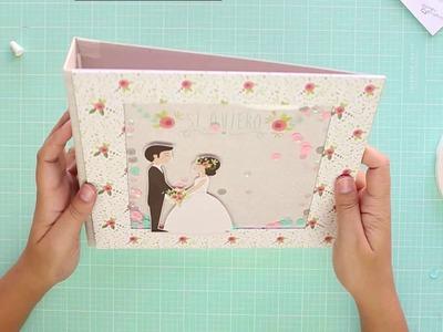 Cómo hacer un álbum de boda con papel scrap