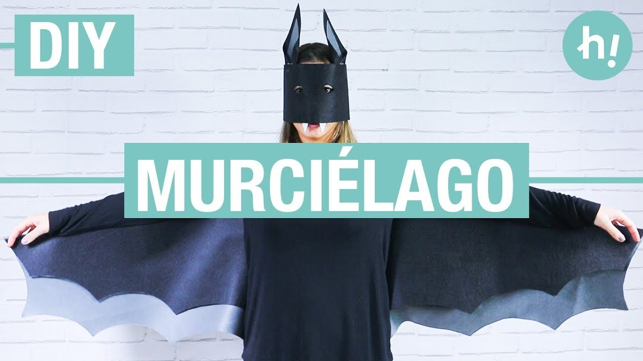 Cómo hacer un disfraz de murciélago. Disfraz de Batman ·  Handfie DIY