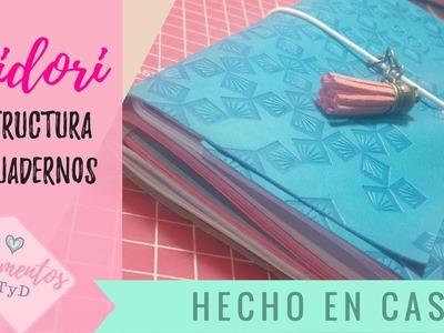 Como hacer un midori  traveler's notebook , diario de viaje o travel journal