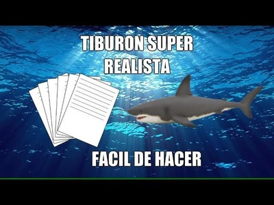 Como hacer un Tiburon de origami FÁCIL (How to make. )
