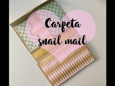 Como hacer una carpeta tipo snail mail. Tutorial fácil con Crea vea