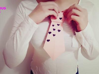 Cómo hacer una corbata de papel Origami Papiroflexia Muy fácil