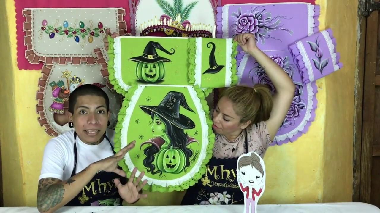 Como pintar una bruja en un juego de baño por Hugo Espinosa