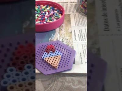 Como se hace un helado de hama beads ????????