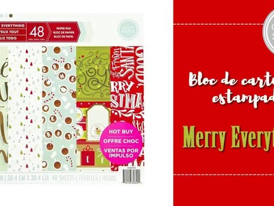 Craft Smith Merry Everything Bloc para scrapbooking