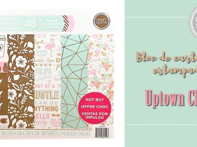 Craft Smith Uptown Chic Bloc para scrapbooking