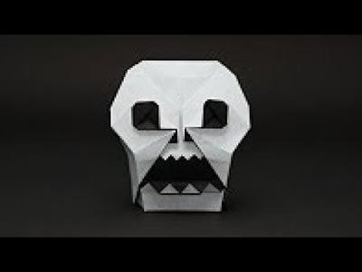 CRÁNEO ORIGAMI. Calavera de papel - Origami Skull.  Halloween Decoration