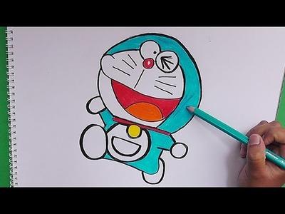 Dibujando y coloreando a Doraemon - Drawing and coloring Doraemon