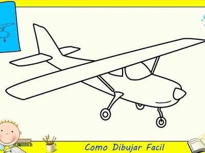 Dibujos de avions FACILES paso a paso para niños - Como dibujar un avion FACIL 1