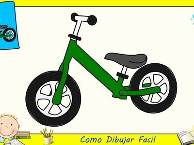 Dibujos de bicicletas FACILES paso a paso para niños - Como dibujar una bicicleta 1