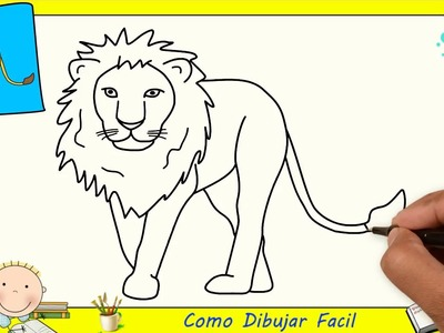 Dibujos de leones FACILES paso a paso para niños - Como dibujar un leon FACIL 3
