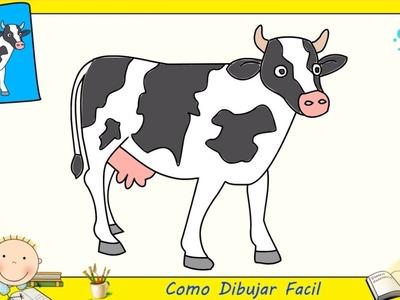Dibujos de vacas FACILES paso a paso para niños - Como dibujar una vaca FACIL 1