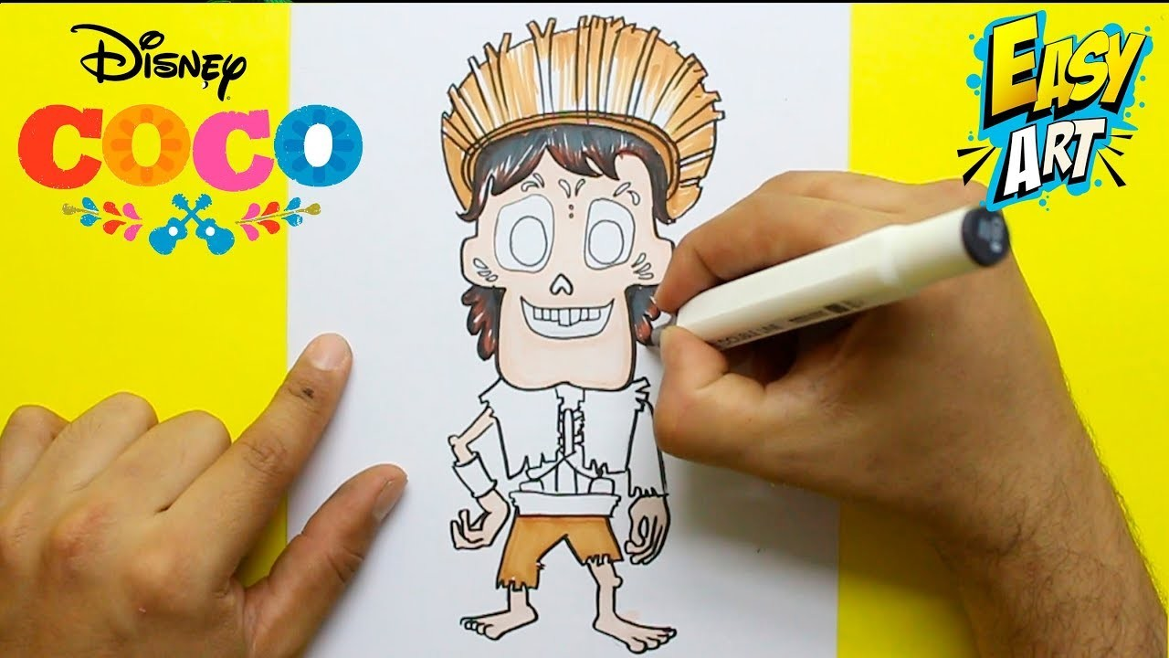 Disney Coco Como Dibujar A Hector How To Draw Hector