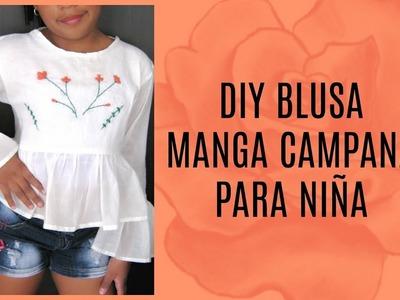 DIY BLUSA MANGA CAMPANA ㅣPalo de Rosa ♡