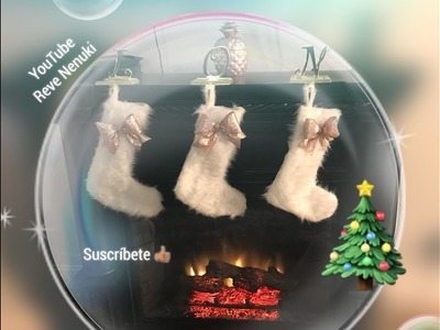 (DIY) ????????botas para decorar en navidad ???? sin coser , ni pegar  muy fácil de hacer ????????????????????