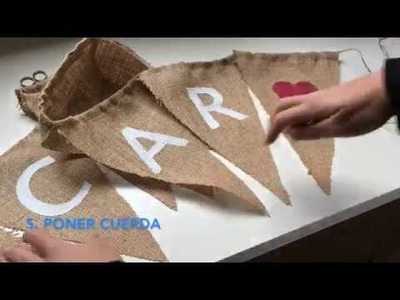 DIY Cómo hacer banderines para eventos ♥  Laura DIY