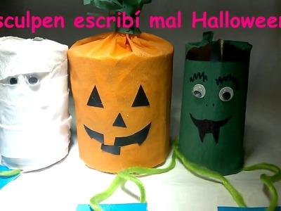 DIY Como hacer minipiñata para halloween - How to make minipiñata for halloween