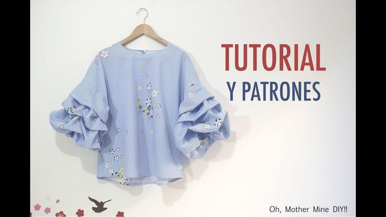 DIY Costura de blusa con mangas abullonadas (Patrones gratis)