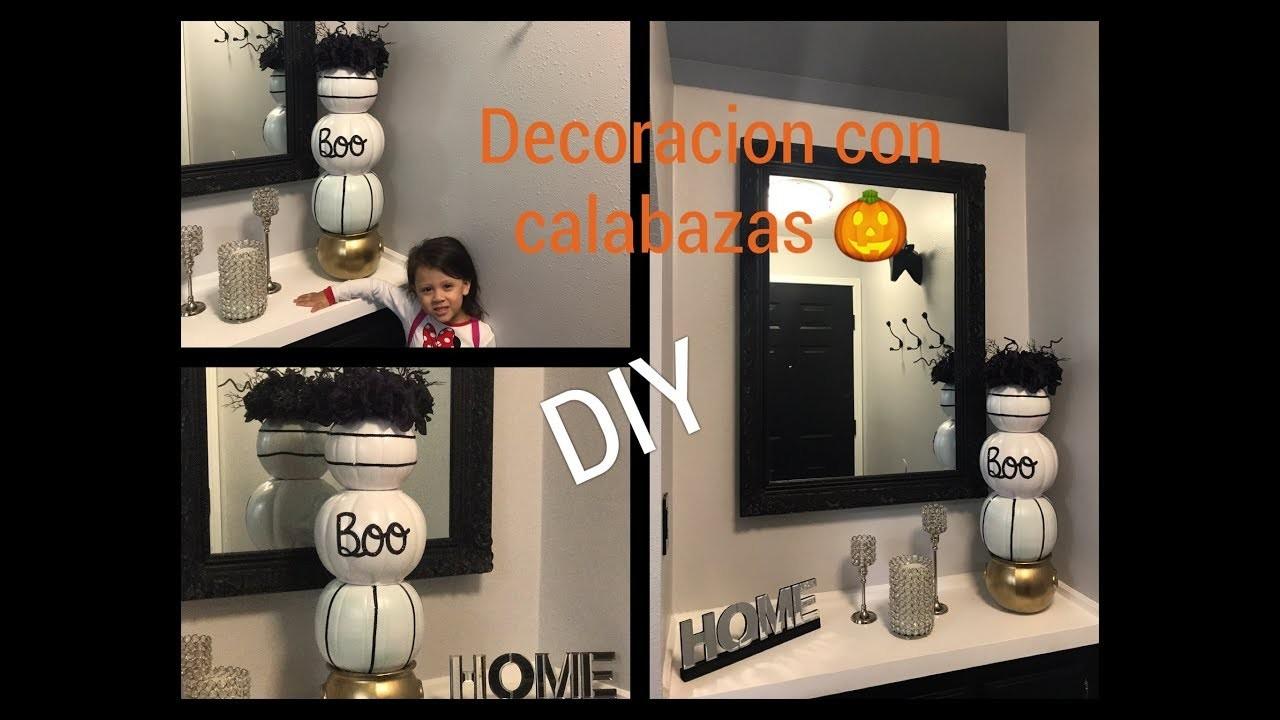 (DIY) DECORACION CON CALABAZAS ???? Decoration with pumpkins ????