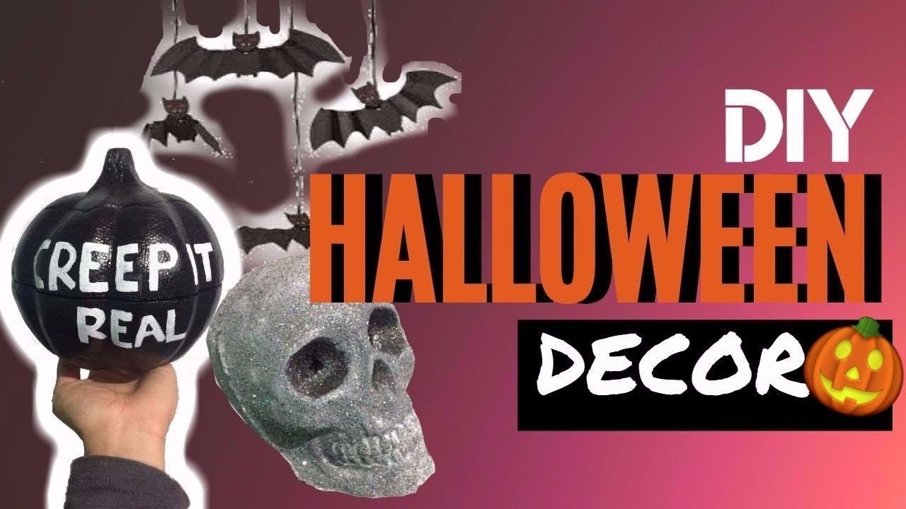 DIY DECORACION DE HALLOWEEN | HALLOWEEN DECOR 2017| Edgar Alfaro