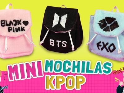 DIY ☆ ¡Haz MINI MOCHILAS de grupos KPOP! Sin coser - Fácil de hacer ☆ MiniBackPacks l Fabbi Lee