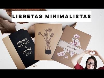 DIY- LIBRETAS CON ESTILO MINIMALISTA