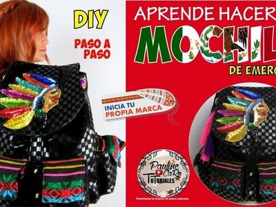 DIY MOCHILA ( BACKPACK) MOLDE GRATIS ! Y QUE LLEVAR EN CASO DE EMERGENCIA