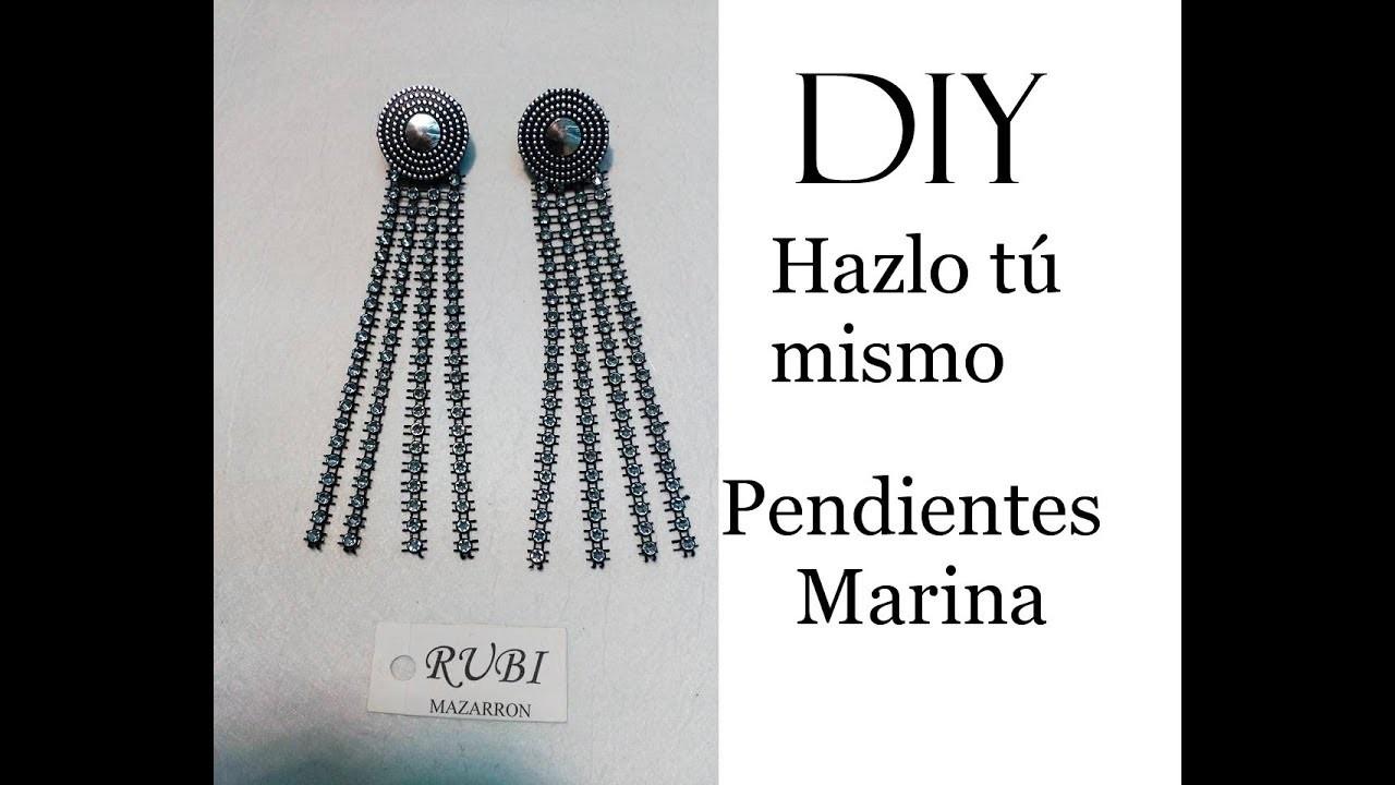 Diy. Pendientes de fiesta Marina