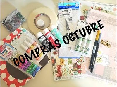 Haul scrapbooking - compras Octubre 17