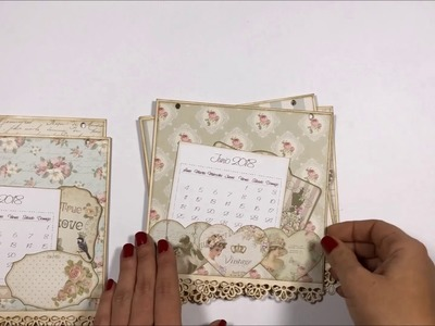Kit scrapbooking calendario