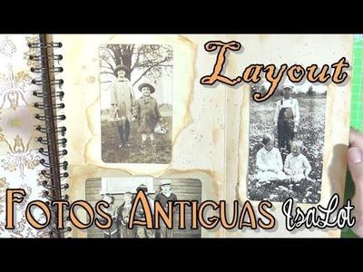 Layout vintage con fotos antiguas | Scrapbooking